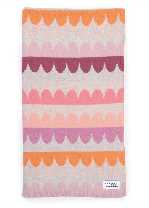Molly Blanket - Peony (folded)