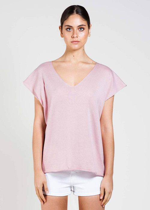 Tully Tee in Blush