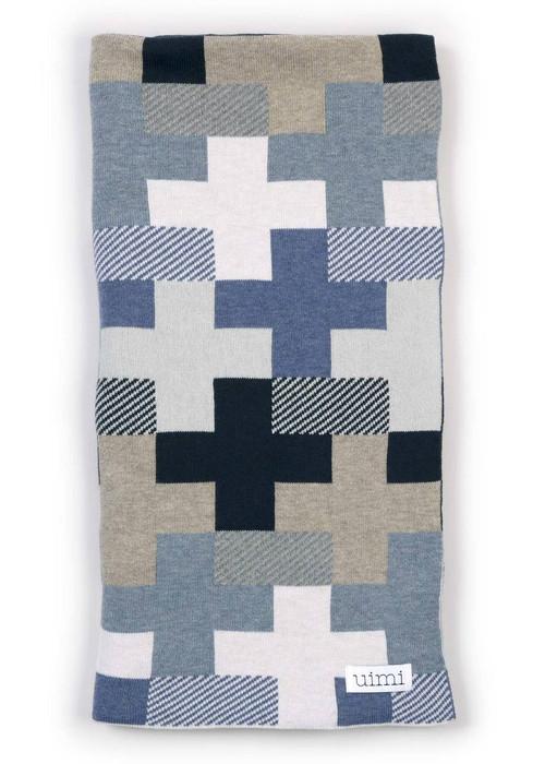 Max Blanket in Denim (folded)