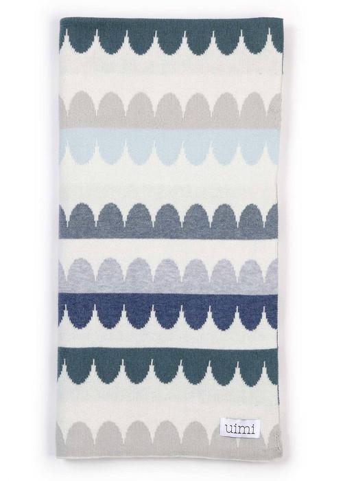 Molly Blanket in Duck Egg (folded)