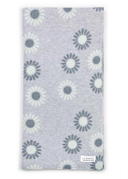Wild Flower Blanket in Whisper (folded)