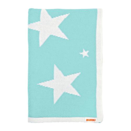 Blanki starry night blanket (aqua) - Folded