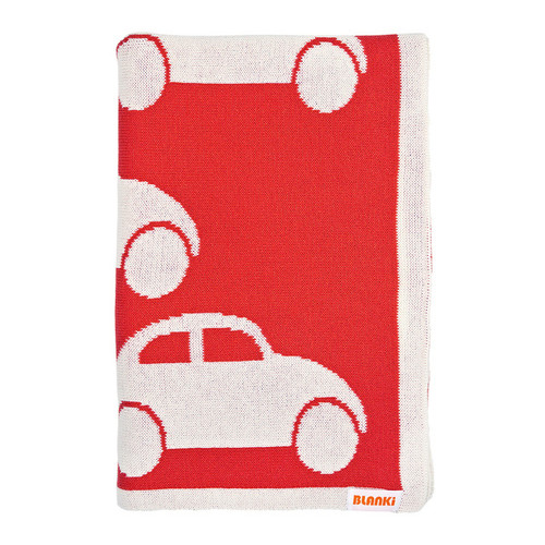 Blanki traffic jam blanket (blood orange) - Folded