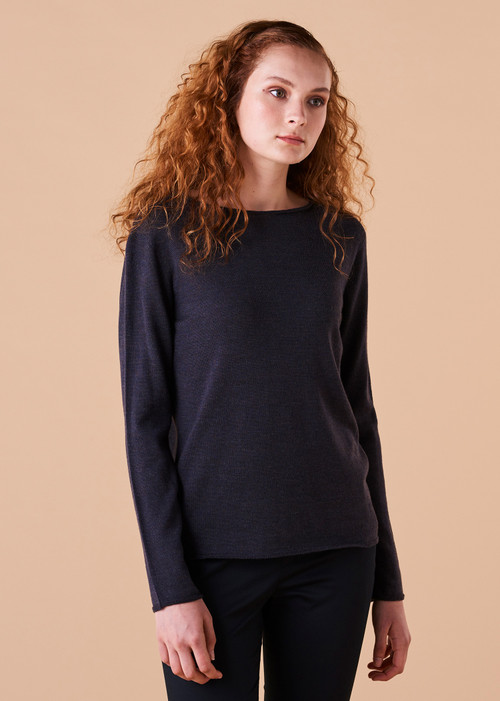 Phoebe Top - Blackcurrant (front)