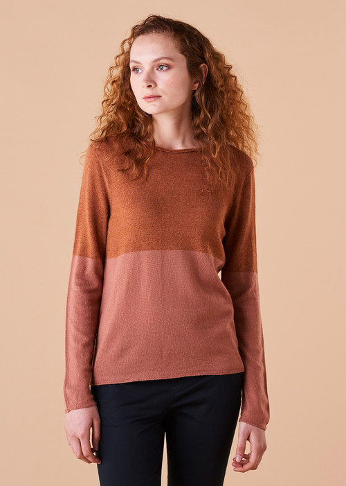 Harlow Top - Amber (front)