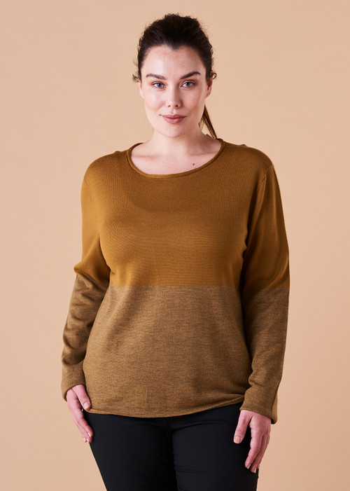 Harlow Top - Brass (front)