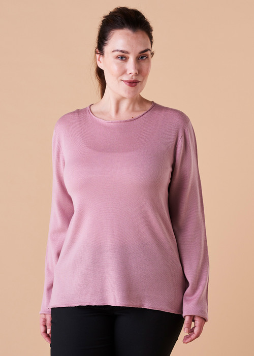 Phoebe Top - Rosewood (front)