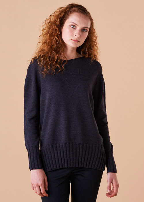 Quinn Jumper - Blackcurrant (front)