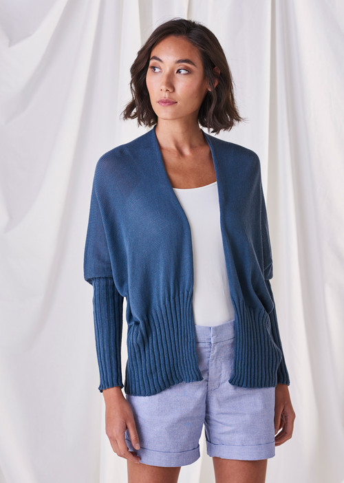 Quinn Cardigan - Steel Blue