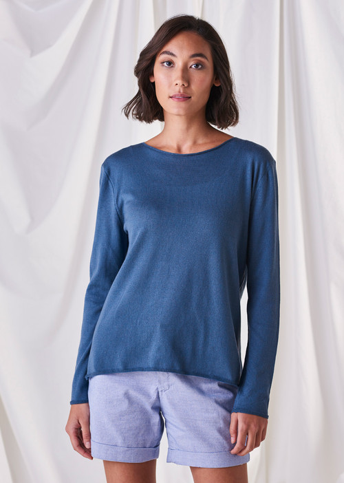 Romy Top - Steel Blue