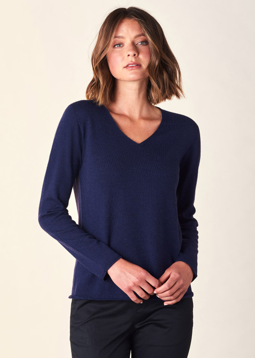 Scarlet Top - French Navy
