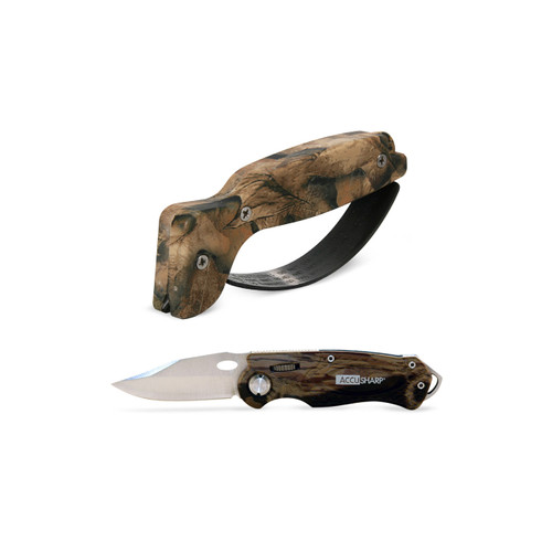 Sharpener & Sport Knife Combo Camo