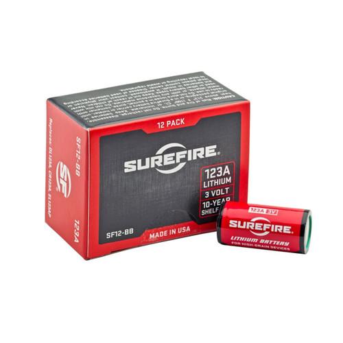 SureFire 123A Lithium Batteries 12 Pack