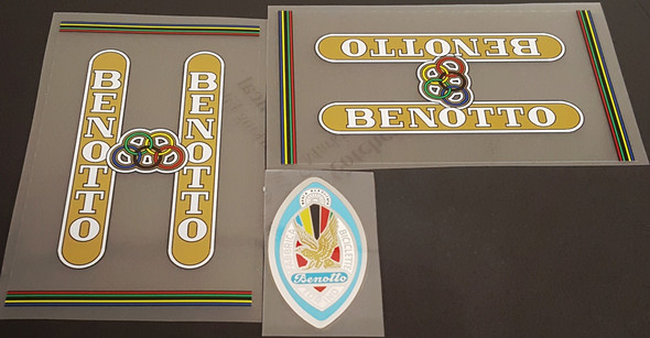 Benotto 1960s Bicycle Decal Set - Clear Background