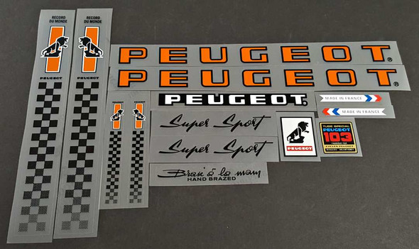 Peugeot Super Sport Bicycle Decal Set
