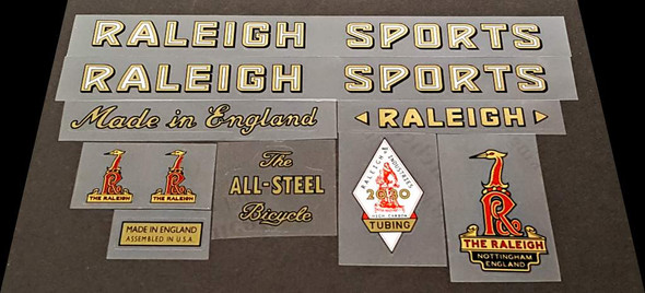 Raleigh 1957 Raleigh Sports Bicycle Decal Set
