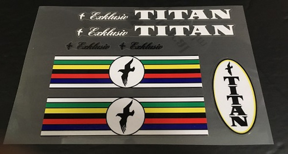 Titan Bicycle Decal Set