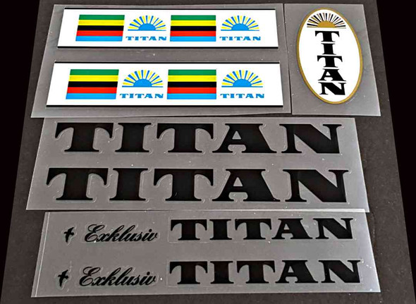 Titan Vintage Bicycle Decal Set