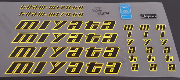 Team Miyata 1986  Bicycle Decal Set