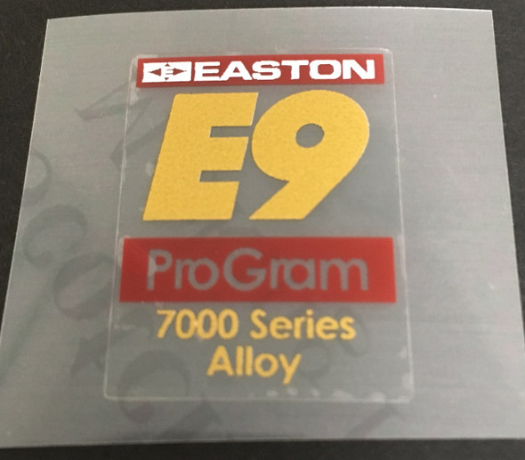 Easton E9 Tubing Decal
