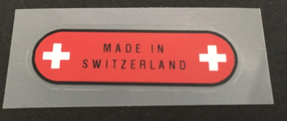 Made in Switzerland Decal - 1 pair
