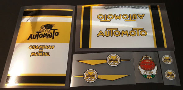 Automoto Bicycle Decal Set