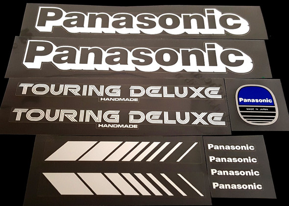 Panasonic Touring Deluxe Bicycle Decal Set with Chrome Badge
