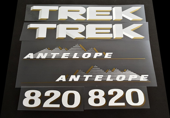 Trek 1990 Antelope 820 Bicycle Decal Set
