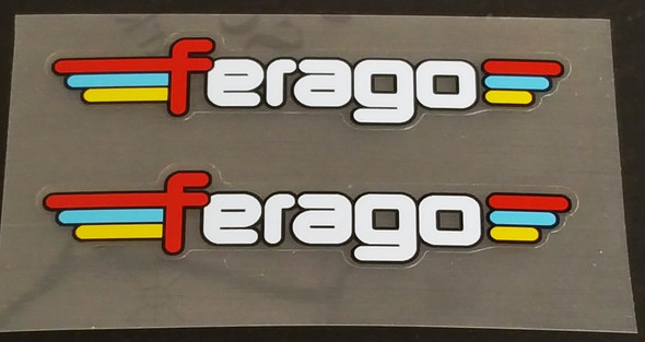 Ferago Top Tube or Chain Stay Decals - 1 Pair