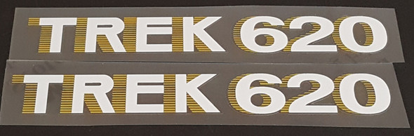 Trek 1980s Down Tube Decals  - 1 Pair (Choice of Materials, Colors and Models)