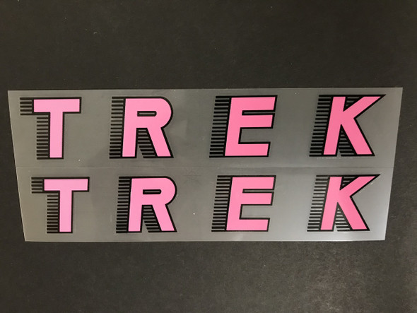 Trek 1980s Italic Down Tube Decals - 1 Pair - Choice of Colors