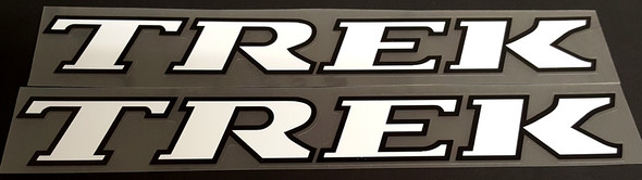Trek Late 1990s Down Tube Decals w/Outline - 1 Pair - Choice of Colors and Size