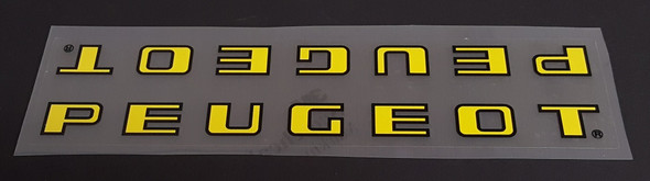 Peugeot Down Tube Decal - Lettering on Clear Panel  - Choose Color