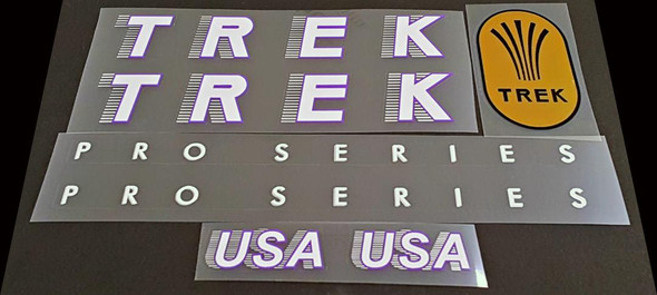 Trek Pro Series Bicycle Decal Set