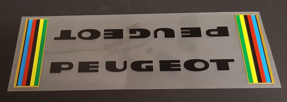Peugeot Down Tube Assembly Decal  - Late 1970s - Choose Letter Color