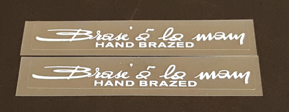 Peugeot  Hand Brazed Top Tube Decals - 1 Pair
