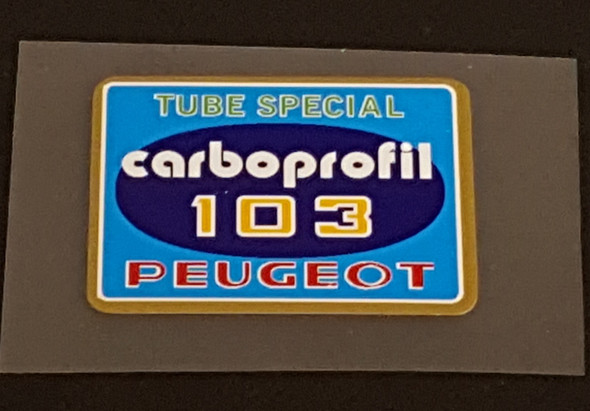 Peugeot Carboprofil 103 Tubing Decal
