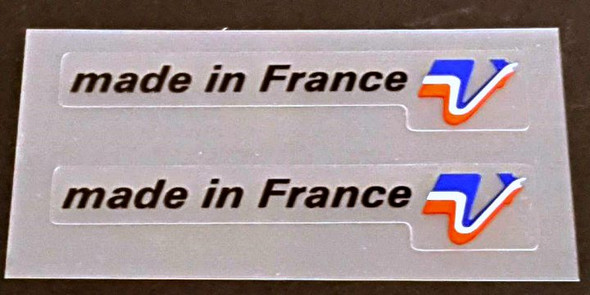 Peugeot  Made in France Decals - 1 Pair - Black