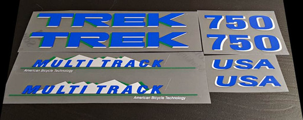 Trek 750 Multi-Track Bicycle Decal Set