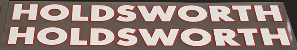 Holdsworth Bicycle Down Tube Decals - 1 Pair - Choose Colors