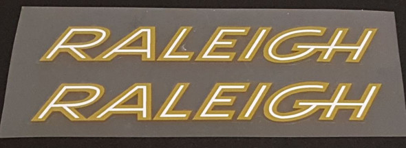 Raleigh Bicycle Early 1970s Down Tube Decals - 1 Pair - Choose Colors