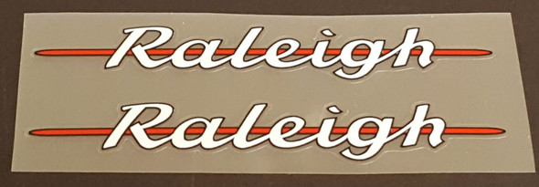 Raleigh Bicycle Down Tube Decals - 1 Pair