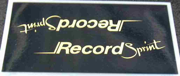 Raleigh Record Sprint Down Tube Wrap Decal with Mirror Gold