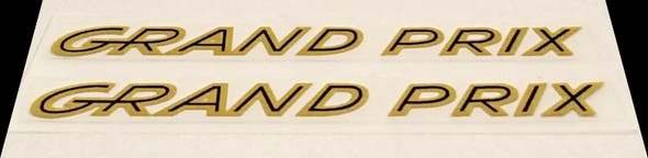 Grand Prix Small Top Tube Decals - 1 Pair