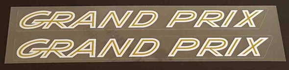 Grand Prix Large Top Tube Decals - 1 Pair