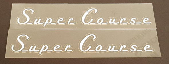 Super Course Top Tube Decals (1970s) - 1 Pair