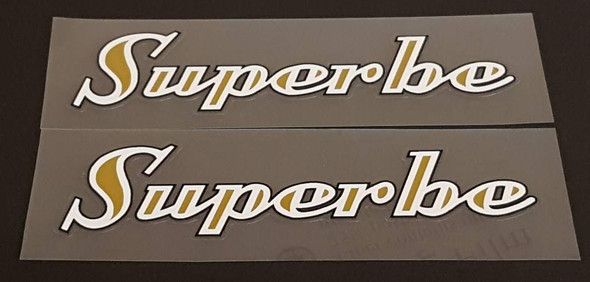 Superbe Down Tube Decals - 1 Pair