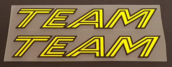 Team Top Tube Decals - 1 Pair