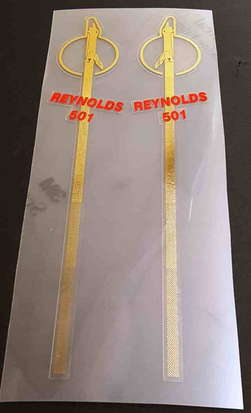 Record Sport Tube Decals - 1 Pair - Mirror Gold