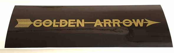 Golden Arrow Seat Tube Wrap Decal